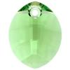 Swarovski Pendant 6734 Pure Leaf 14mm Peridot